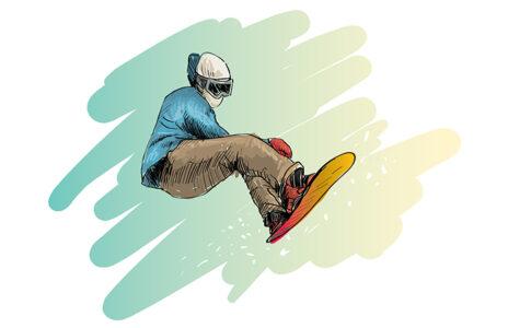 スノーボード イラストイメージ